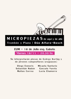 Micropiezas para dúo de trombón y piano